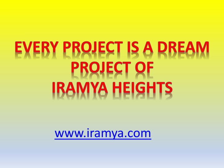 Every Project Is a Dream project of