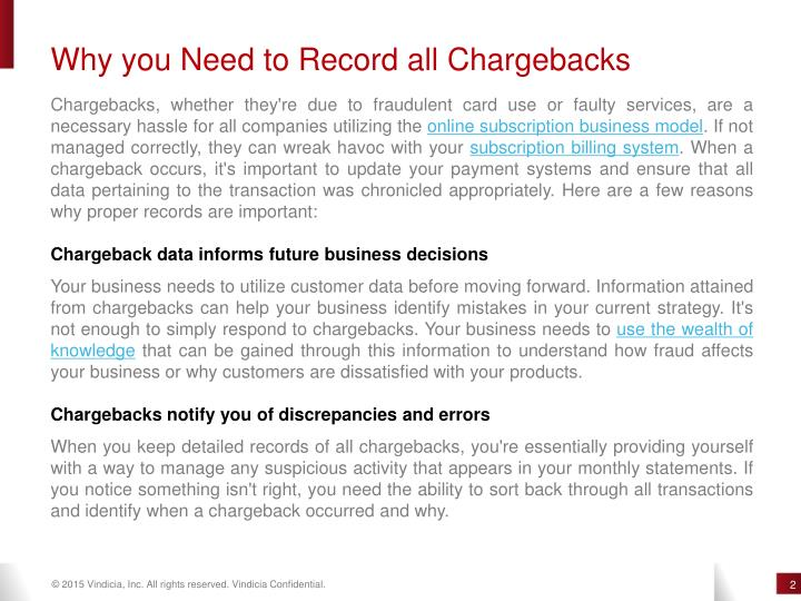 Why you Need to Record all Chargebacks