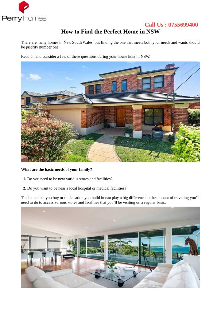 Ppt how to find the perfect home in nsw powerpoint for Find the perfect home