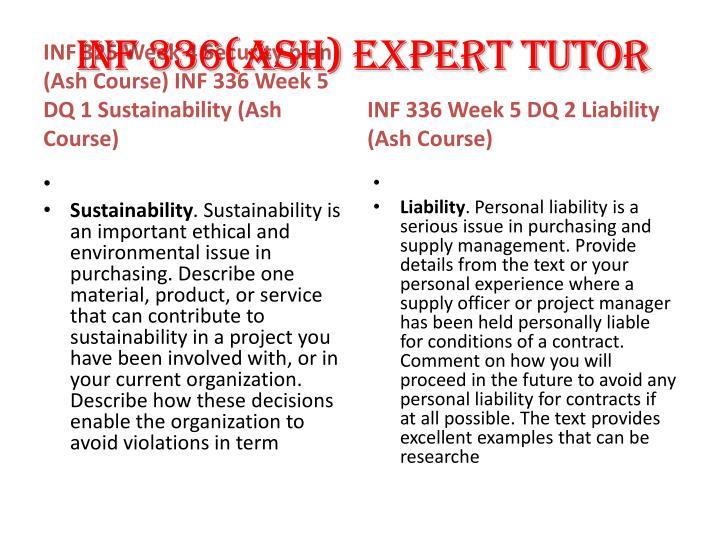 INF 336(ASH) EXPERT TUTOR