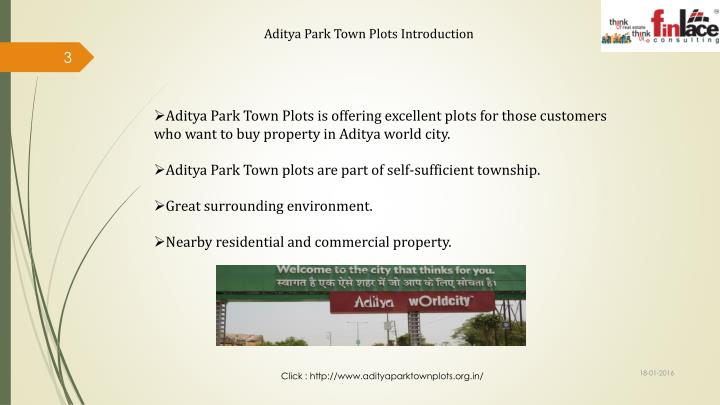 Aditya Park Town Plots Introduction
