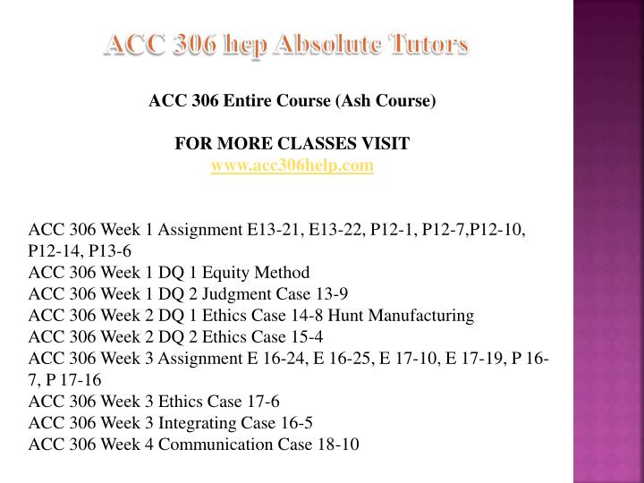 Acc 306 hep absolute tutors