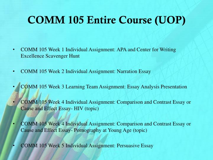 Comm 105 entire course uop