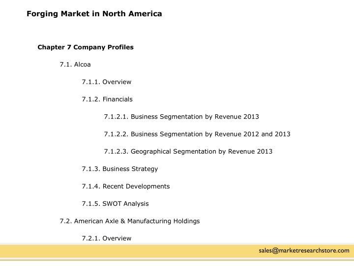 Forging Market in North America