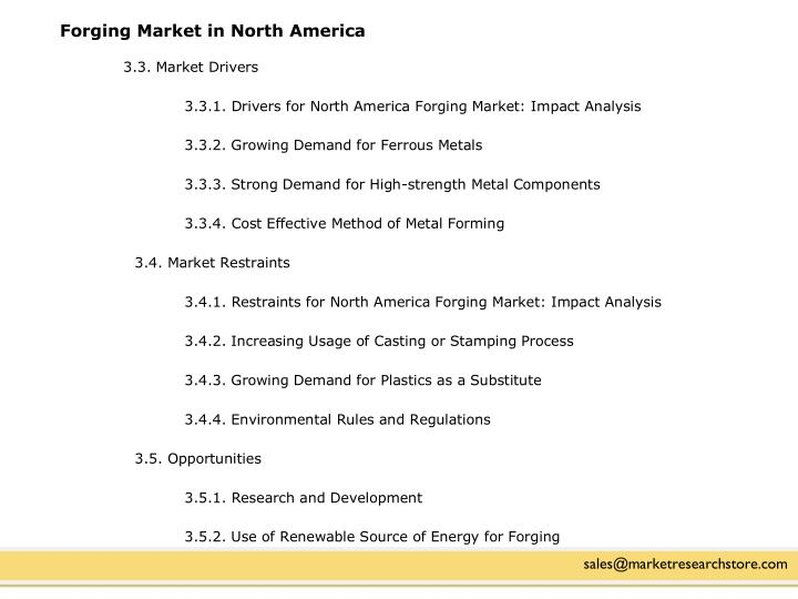 Forging Market in North America