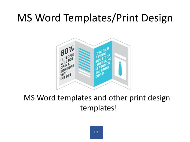 MS Word Templates/Print Design