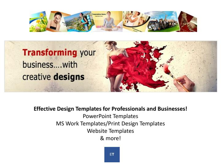 Effective Design Templates for Professionals and Businesses!
