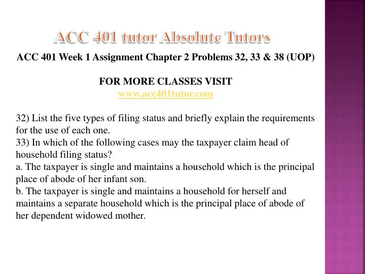 Acc 401 tutor absolute tutors1