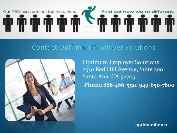 Contact Optimum Employer Solutions