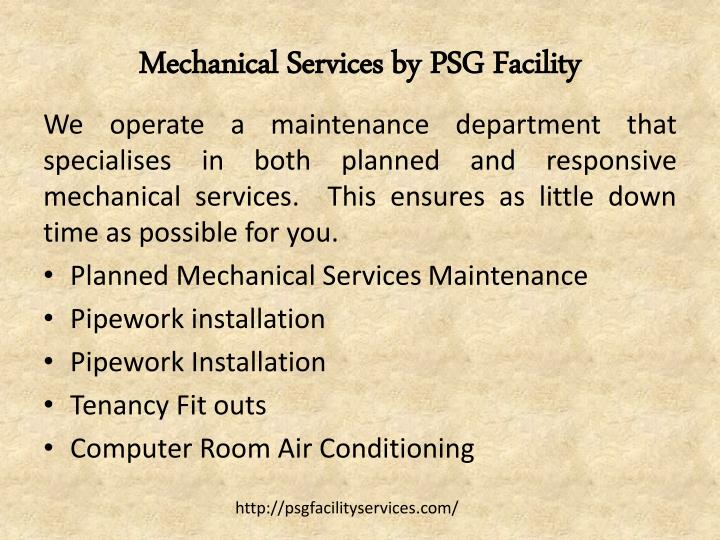 Mechanical Services by PSG Facility