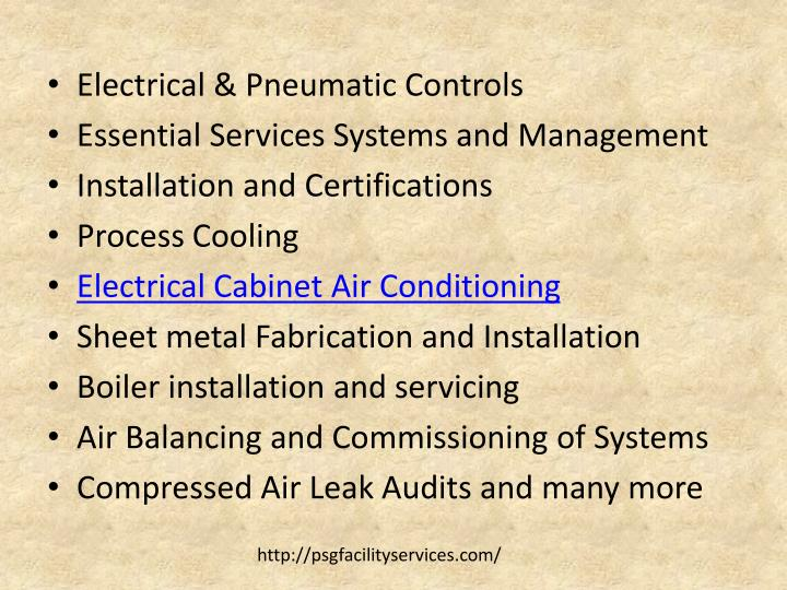 Electrical & Pneumatic Controls