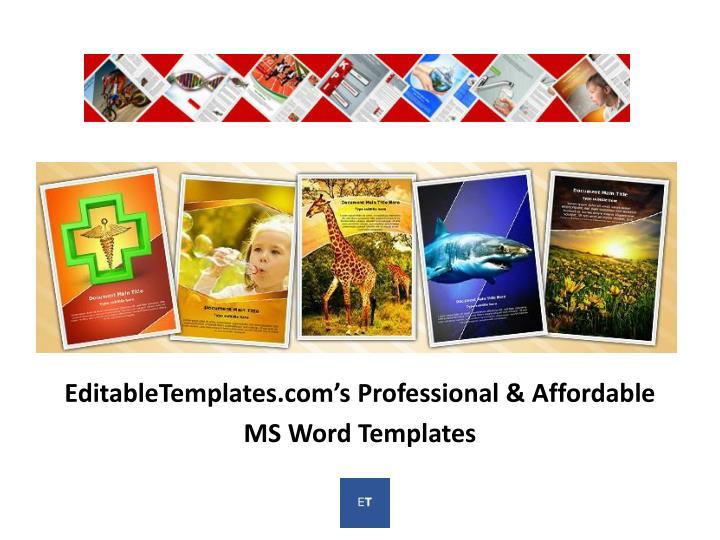 EditableTemplates.com's