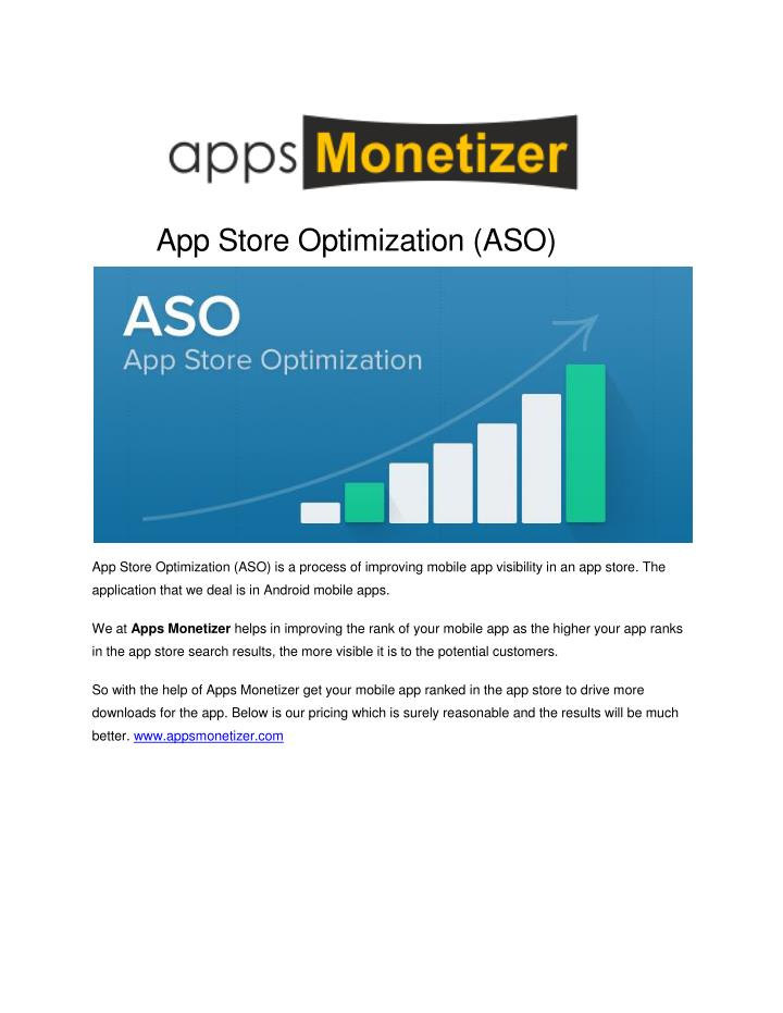 App Store Optimization (ASO)