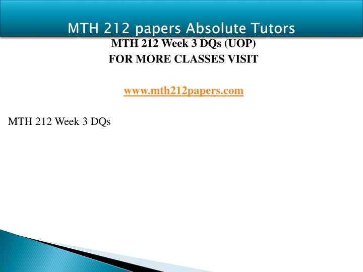 MTH 212 papers Absolute Tutors