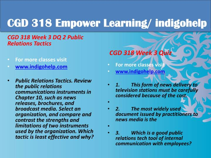 CGD 318 Empower