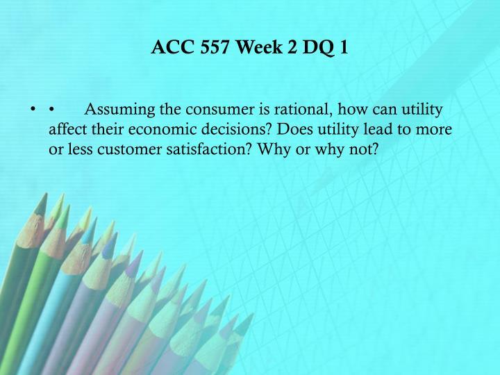 ACC 557 Week 2 DQ 1