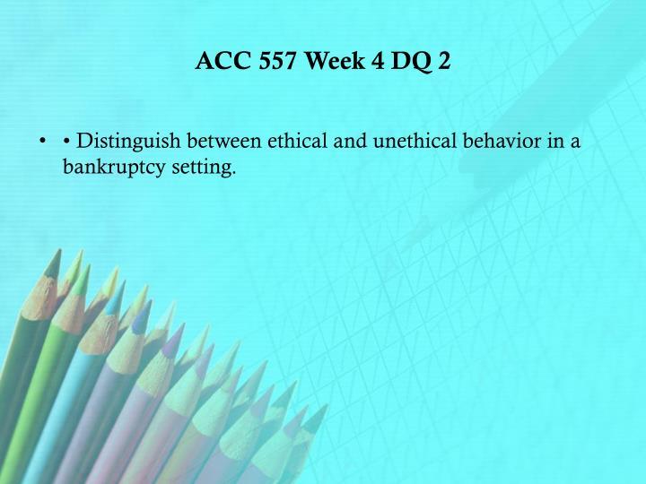 ACC 557 Week 4 DQ 2