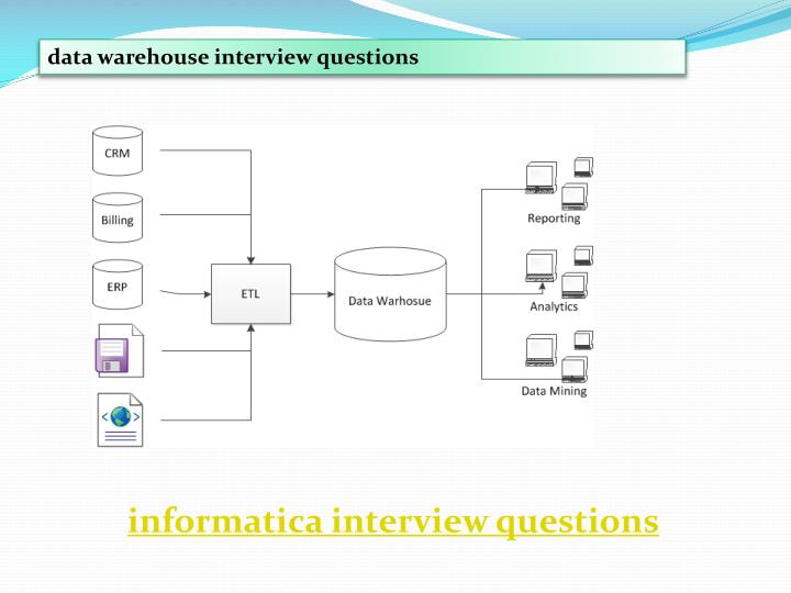 Data warehouse interview questions