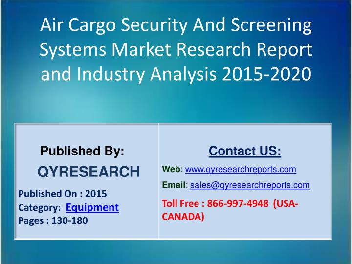 Air Cargo Security And Screening