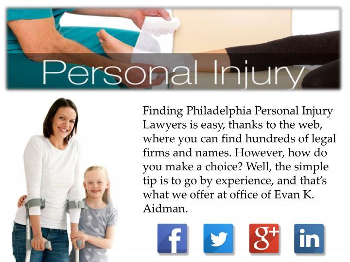 Finding Philadelphia Personal Injury