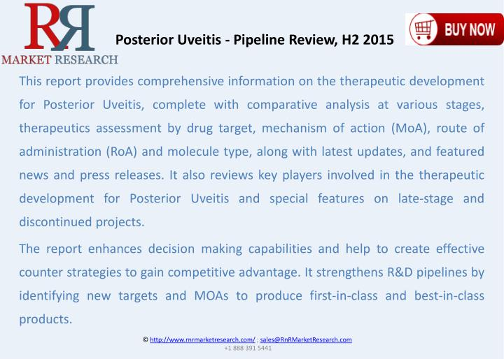 Posterior Uveitis - Pipeline Review, H2 2015