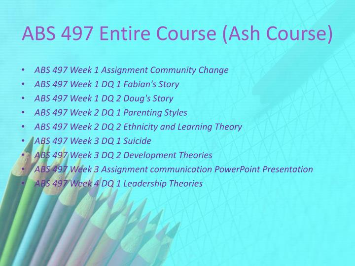 Abs 497 entire course ash course