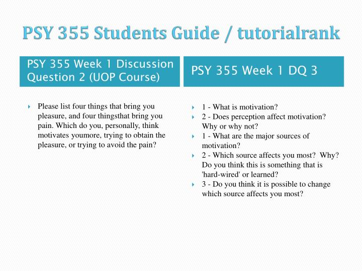 Psy 355 students guide tutorialrank2