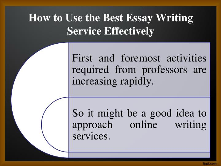 The Best Service of Essay Writing