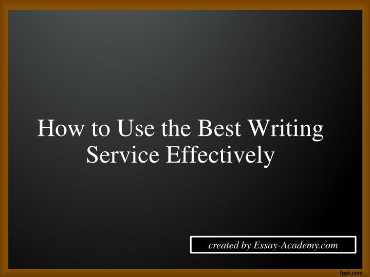 The best paper writing service
