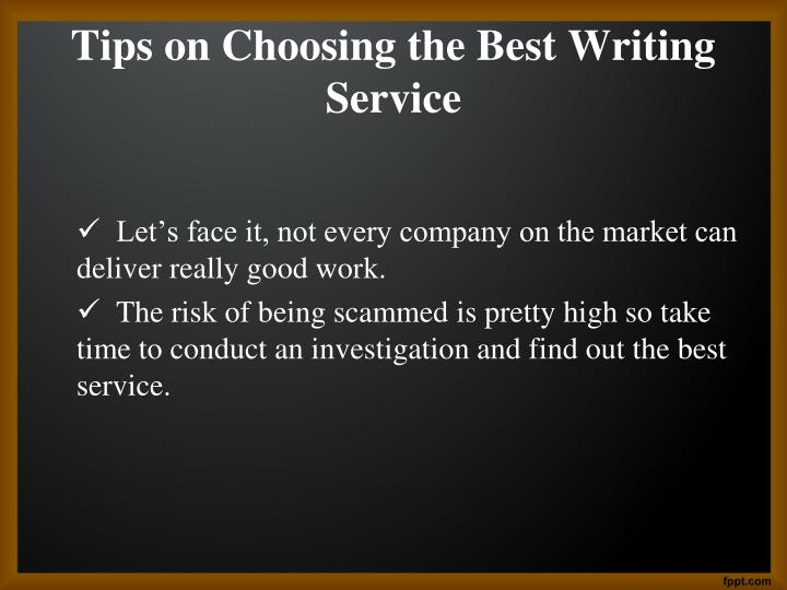Best writing service.com