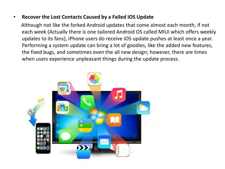 Recover the Lost Contacts Caused by a Failed iOS Update