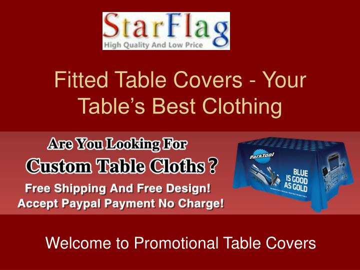 Fitted Table Covers - Your Table's Best Clothing