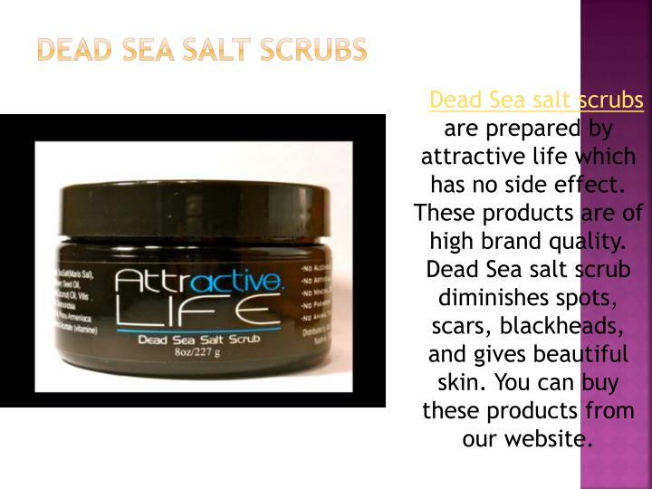 Dead sea salt scrubs