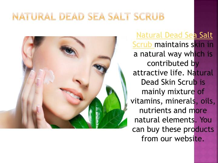 Natural Dead Sea Salt Scrub