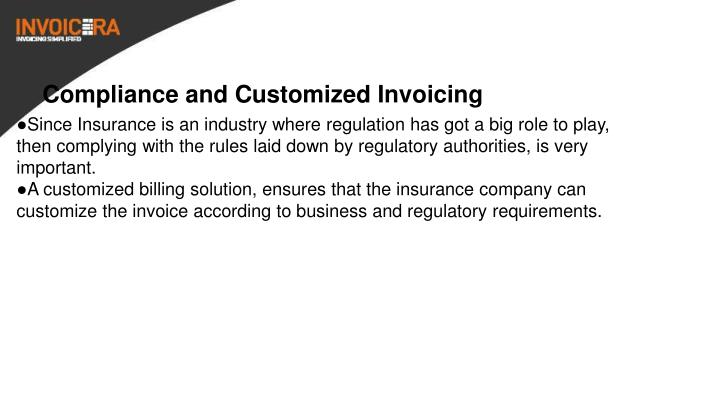 Compliance and Customized Invoicing