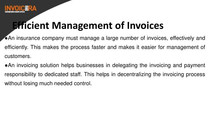 Efficient Management of Invoices