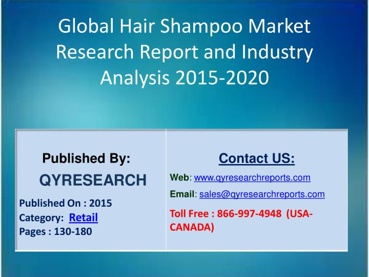 Global Hair Shampoo Market