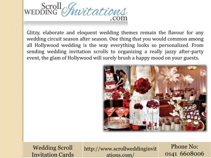 Glitzy, elaborate and eloquent wedding themes remain the