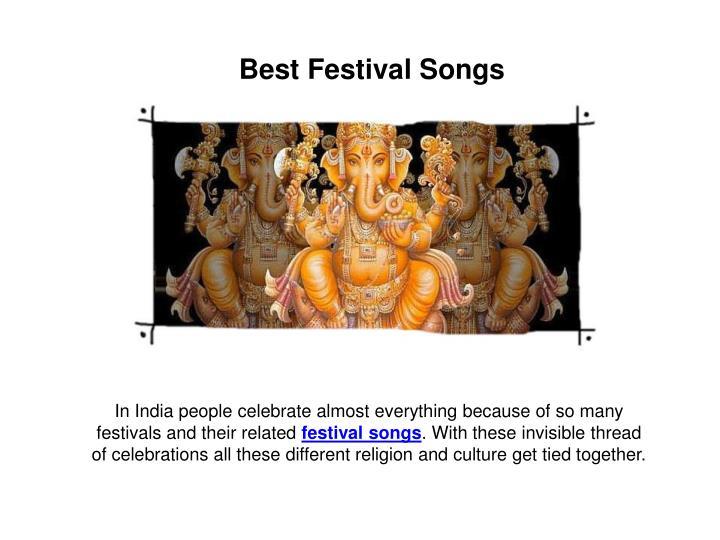 Best Festival Songs