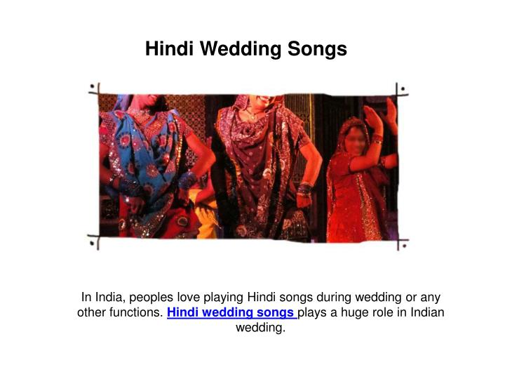 Hindi Wedding Songs
