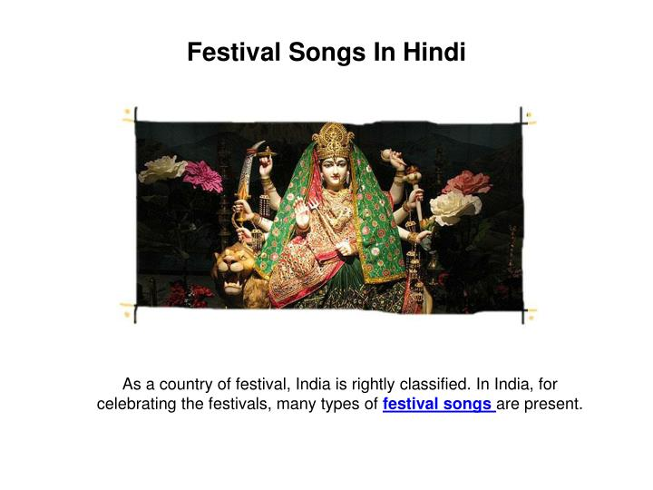 Festival Songs In Hindi