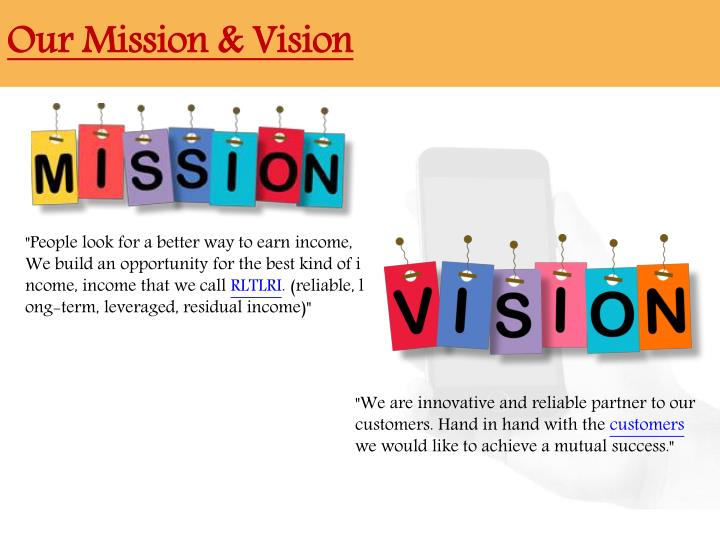 Our mission vision