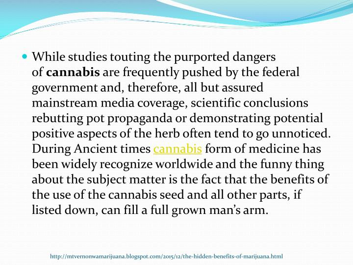 While studies touting the purported dangers of