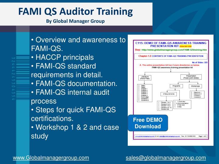 FAMI QS Auditor Training