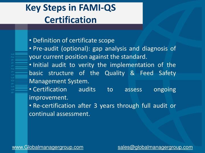 Key Steps in FAMI-QS Certification