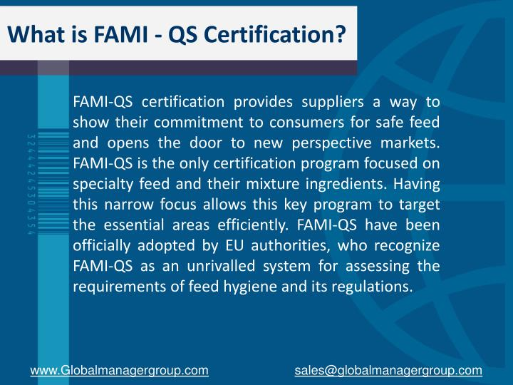 What is fami qs certification