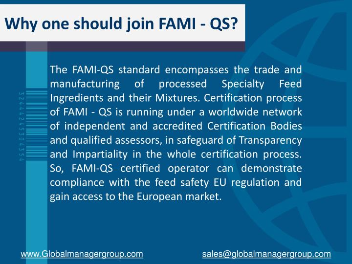 Why one should join FAMI - QS?