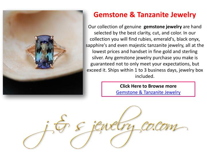 Gemstone & Tanzanite Jewelry