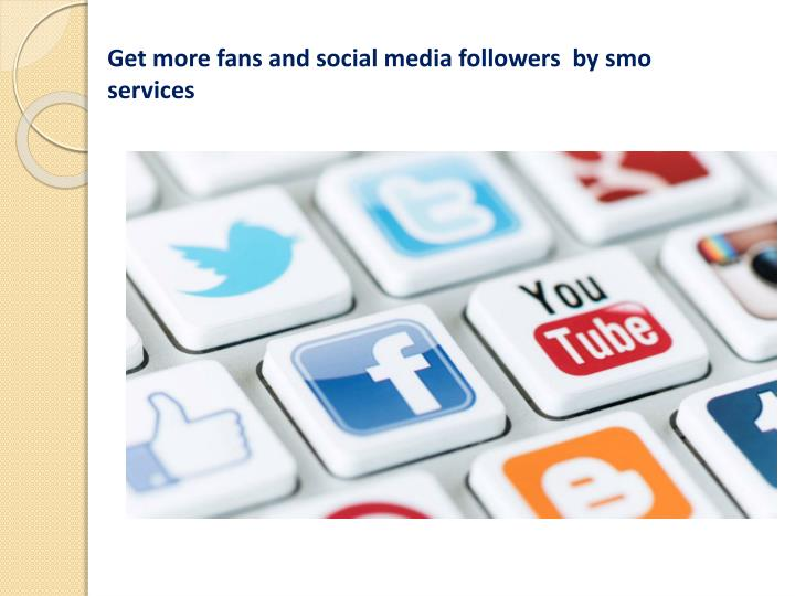 Get more fans and social media followers  by