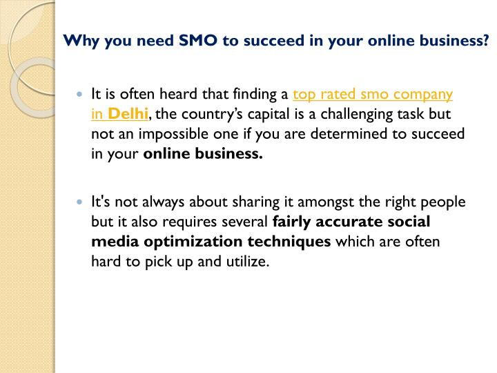 Why you need SMO to succeed in your online business?